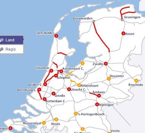 Live Treinverkeer Amsterdam En Noord Nederland Valt Stil Door Storm