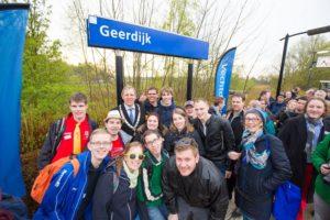 In Beeld: Record aantal treinreizigers in Geerdijk