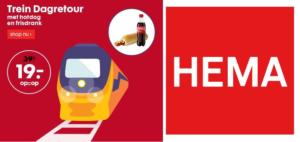 HEMA treinkaartje: Dagretour voor 19 euro