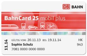 BahnCard 25: De Duitse kortingskaart voor de trein