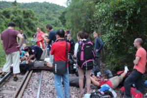 Nederlanders in ontspoorde trein Thailand