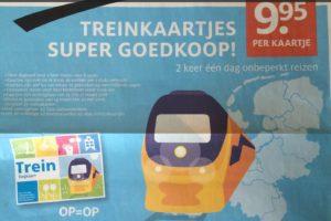 Etos: 2 NS-dagkaarten voor 20 euro geldig na 11:00 uur