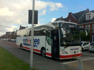 Bus grote verrassing bij race naar België