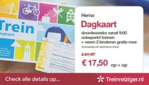 Goedkope treinkaartjes: Hema Dagkaart (november 2015)