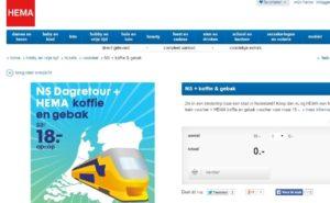 NS dagretour + Hema-hotdog: 19 euro (najaar 2015)