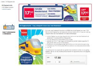 Goedkope treinkaartjes: Hema Dagkaart voorjaar 2014