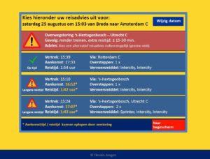Reisadvies via NS-kaartautomaat winnende idee Spoorprijs 2012