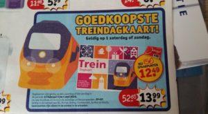 Goedkope treinkaartjes: Kruidvat Dagkaart voor het weekend