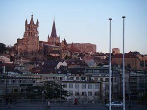 Trein naar Lausanne
