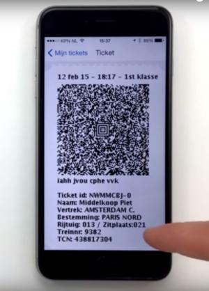 Steeds meer mobiele tickets bij NS International