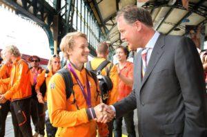 In Beeld: Terugkomst Olympisch team per trein