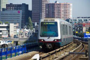 Metro in Rotterdam vaker gebruikt. Tram juist minder