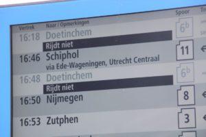 NS schrapt treinen in Randstad vanwege hitte