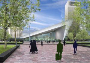Start bouw stationshal Rotterdam Centraal