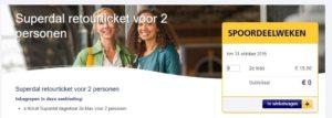 Superdalticket: na 11:00 uur met 2 personen: 20 euro