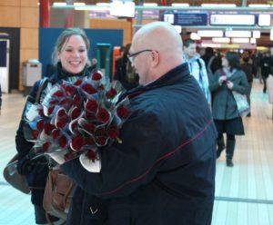Nederlanders kampioen flirten in trein