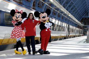Trein naar Disneyland Parijs