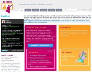Meer subsidie voor klachtenwebsite OV-loket