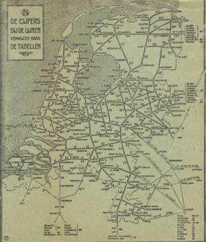 Terug in de tijd: Spoorkaart 1931