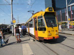 RET tram wordt duikboot