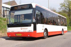 Veolia zet bussen in vanwege volle treinen