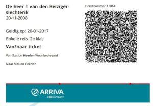 Arriva lanceert e-tickets voor trein en bus met bug