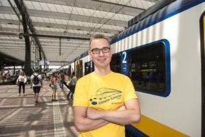 Kampioenschap Kilometervreten per trein