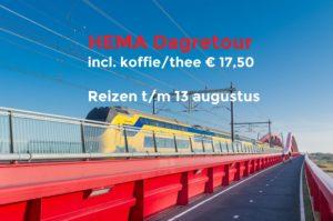 HEMA treinkaartje: € 17,50 (reizen t/m 13 augustus 2017)