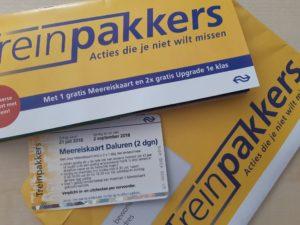 Treinpakkers: Gratis meereiskaart t/m 2 september 2018