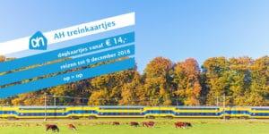 AH treinkaartje: NS Dagkaart vanaf € 14 (tot € 16)