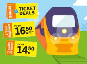 AH treinkaartjes: NS Dagkaart vanaf € 14,50