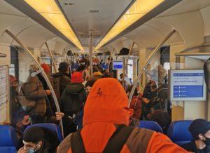 NS kampt met overvolle treinen