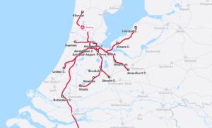 Treinverkeer rond Amsterdam en Rotterdam zwaar verstoord door storingen